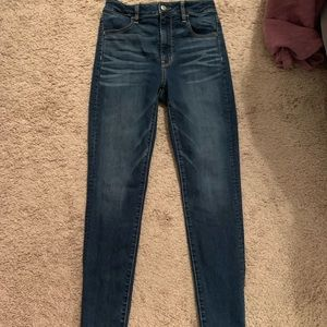 American eagle super high rise jeggings